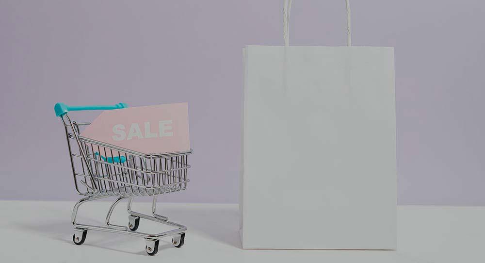 carrito y bolsa para hacer tienda dropshipping