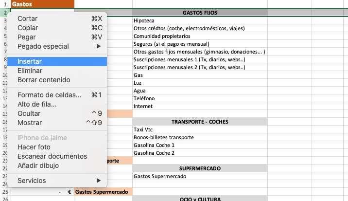 captura pantalla plantilla excel contabilidad doméstica